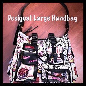 """💋Desigual Large """"Boho"""" style handbag NWOT"""